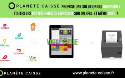Planète Caisse propose une solution qui rassemble toutes les plateformes de livraison sur un seul et même outil !